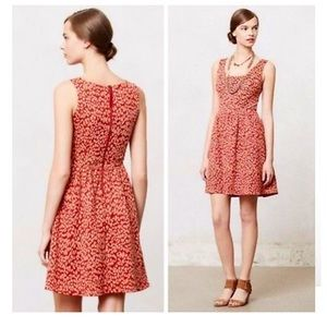ANTHROPOLOGIE | NWT MAEVE RED LEOPARD PRINT DRESS